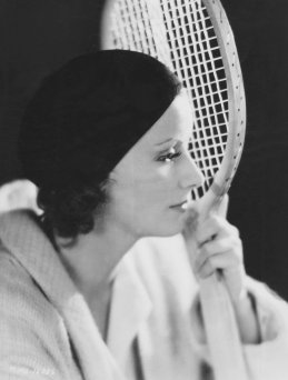 Garbo, Greta - Actress, Sweden - *18.09.1905-15.04.1990+ Role portrait with tennis racket in the film 'The Kiss' Directed by: Jacques Feyder USA 1929 Film Production: Metro-Goldwyn-Mayer (MGM) - Photographer: Clarence Sinclair Bull